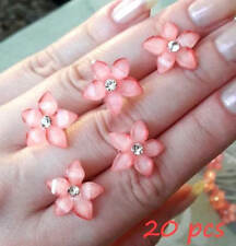 20 / 40pcs - Crystal FLOWER Rhinestone Hair Pins Clips Wedding Bridesmaid Prom