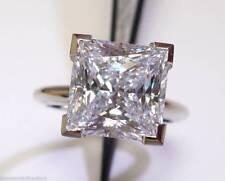 1 ct Princess Ring Top Russian Quality CZ Imitation Moissanite Handmade Sz 8