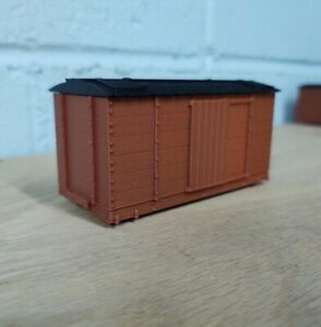 On30 14 foot WOODSIDE REEFER kit. No trucks/couplers. OXIDE RED. 3D Print. NEW