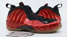 NIKE AIR FOAMPOSITE ONE 2012 USED SIZE 9 VARSITY RED WHITE BLACK 314996 610