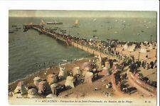 CPA -Carte postale -France-  Arcachon - Perspective de la jetée-1918 -  S1777