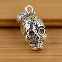 925 Sterling Silver pendant charm jewelry DIY accessory skull S41