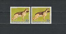 Guinée république  PA  faune chien berger Allemand   1985   num : PA 185 D ND **
