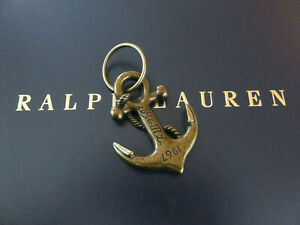 Polo RALPH LAUREN Key Chain FOB Brass Nautical Anchor