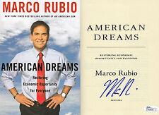 "Marco Rubio SIGNED JSA COA ""American Dreams"" Hardback Book AUTOGRAPH 2016"
