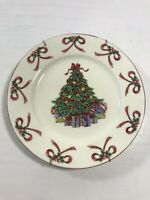 Vintage Christmas Tree Plate Wall Hanging Ceramic Holiday Home Decoration Decor