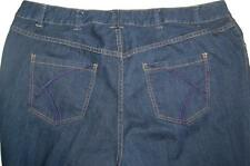 Lane Bryant Denim Jeans Distinctly Boot 24 W Avg Stitched Pockets Cotton Blend