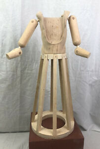 Manichino santo Stile '600 Vintage Statua sacra restauro 32 cm design scultura