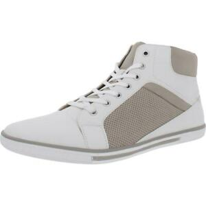 Unlisted Kenneth Cole Mens Crown Faux Leather High Top Sneakers Shoes BHFO 2333