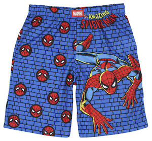Marvel Spiderman Boys' Youth Wall Crawler Superhero Pajama Sleep Shorts
