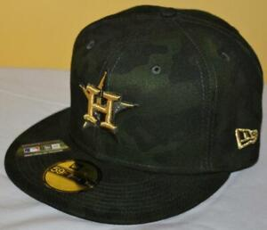 NWT Houston Astros Armed Forces Day Camo 59Fifty New Era Fitted Hat Cap *G7