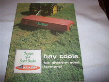 New Idea Hay Tools Brochure Mower Uni-Forage Harvester Fremont Nebraska