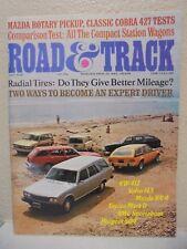 Road & Track July 1974 VW 412 Peugeot 504 Volvo 145 Mazda RX4