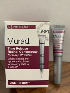 NEW Murad Time Release Retinol Concentrate for Deep Wrinkles 2 Treat (0.1 fl oz)