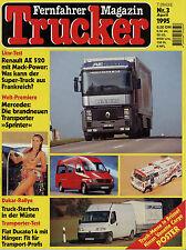 Trucker 3/95 1995 Dave Dudley Sprinter Renault AE520 Magnum Vanette Cargo Ducato