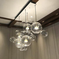 LED Glass Bubble Pendant Lamp Chandelier Ceiling Light Fixture Living Room Ligh