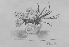 SYDNEY ROGERS - VASE OF FLOWERS - DRAWINGS - C.1970 - FREE SHIP US !