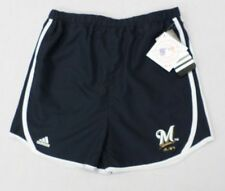 MLB Milwaukee Brewers Girls Youth Navy Shorts 14