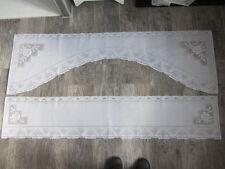 Lot de 2 paires de rideaux blanc Largeur 159cm X 30 X 50cm
