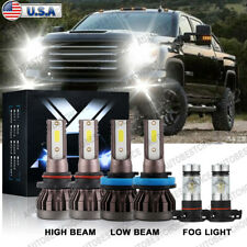 6Pcs 9005 H11 5202 Led Headlight Fog Light Combo for Gmc Sierra 1500 2500 07-13
