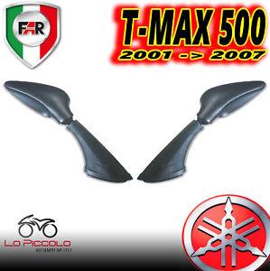 COPPIA SPECCHIETTI RETROVISORI GOCCIA YAMAHA TMAX T-MAX 500 2001 2007 NERO