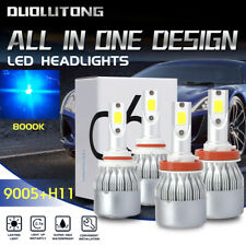 New listing 4X Super Bright 9005+H11 Combo 8000K Ice Blue Led Headlight Bulbs High Low Beam