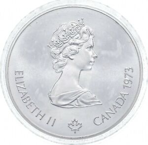 1973 $5 Canadian Canada Olympic Silver Coin *527