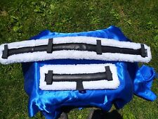 Miniature Horse Fleece Harness Saddle & Breast Collar Pads Set Amish Made WHITE