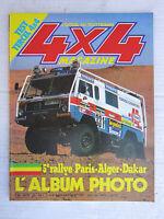 4X4 MAGAZINE n° 22 /  5 ème PARIS-DAKAR 83 /TOYOTA TERCEL 4X4 /AUDI 80 QUATTRO