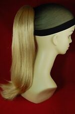 """Hairpiece Clip-on Lt Butterscotch Blonde #24B-- by Mona Lisa 18"""" Synthetic"""
