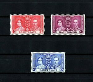 BASUTOLAND - 1937 - KG VI - CORONATION ISSUE - MINT - MNH - SET OF 3!