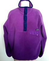 Patagonia Synchilla Snap T Fleece Pullover Sweater Womens Size M Purple
