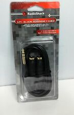 "NOS RadioShack 3ft. Headphone Audio Y-Cable 1/4"" Male to Dual Female Dead Stock"