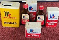 Lot of Vintage Spice Can Tins & Old Spice Bottles --McCormick