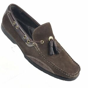 Cole Haan Loafers Mens Shoes 9 M Brown Suede - Made in Brazil