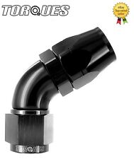 AN -12 (AN12 JIC -12) 60 Degree ULTRAFLOW Swivel Seal Hose Fitting In BLACK