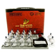 HANSOL CUPPING SET19P Massage Acupuncture Vacuum Therapy+Lancet device+10Needles