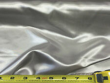 Discount Fabric Satin Silver 65 inches wide SA05