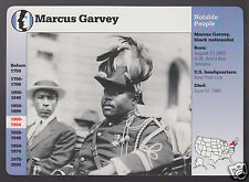 MARCUS GARVEY Black Nationalist 1922 Photo Portrait GROLIER STORY AMERICA CARD
