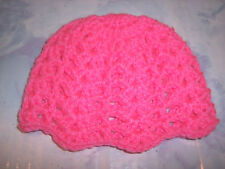 Pink Hand Crochet Beanie Hat And Mary Jane Shoes For The My Size Barbie Doll