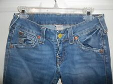 True Religion Joey Twisted Seam Flap Back Pocket Womens Jeans Sz 28 Medium Wash