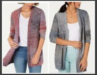 Style & Co Ombré Open-Front Cardigan- Red Combo or Blue/Gray Combo- NWT