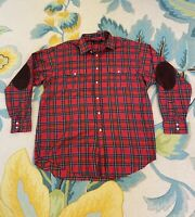 Daniel Cremieux Button Up Shirt XL Tailored Fit Italian Fabric Red Green Plaid