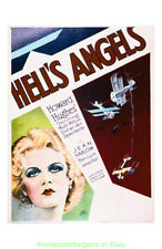 HELL'S ANGELS MOVIE POSTER 11x17 Inch With Plastic Holder WWI JEAN HARLOW 1930