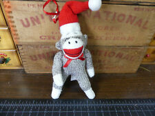 Sock Monkey Ornament Cannons Fall Stuffed Animal Christmas Cute!