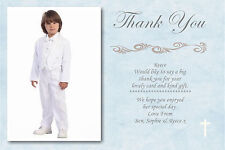 20 Personalised Boys Blue Holy Communion Thank you Cards Ref CT2 With Envelopes