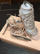 FAITH PALE PINK STUDDED DIAMANTE GLADIATOR SANDALS SIZE 8 EUR 41 NEW £49