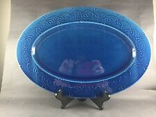 Sud & Co. Cassis en Provence Large Serving Platter Tray Charger Blue RARE
