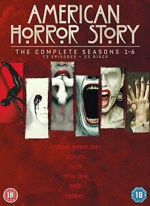 AMERICAN HORROR STORY - THE COMPLETE SEASONS 1 - 6 (23 DISCS DVD) NEW