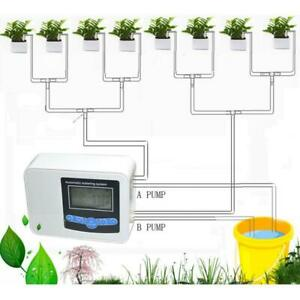 Plant Watering System Solar Irrigation Water Drip Kit Watering Timer Automatic